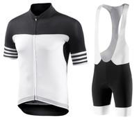 schwarze gold-radsport-trikots großhandel-Herren Aero Schwarz-Weiß Radtrikot 2019 Maillot ciclismo, Rennradbekleidung, Fahrrad Radsportbekleidung D11