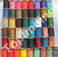 Wholesale Wax Cotton Cord Wholesale - Free shiipping Whole Color 1roll 175meters 1mm HIGH QUALITY KOREA Waxed Cotton Cord Cotton Beading String Cord