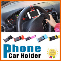 Volant de voiture Téléphone Mobile Holder Cellphone Holder Clip Bracket Mount For iphone 6s 6 7 plus Sumsung s7 J5 LG G5
