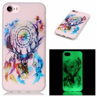 Luminous TPU souple pour iPhone 7 7 Plus I7 Iphone7 Flower Glow In Skull Party Dark Love Piano Skin Cover Anchor Tour Eiffel Dreamcatcher