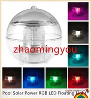 New Waterproof Piscina Solar Power LED RGB Floating Light Lamp 2V 60mA Outdoor Garden Pond cores paisagem em mudança Night Lights