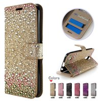 Portefeuille pour LG V30 Pour Samsung S8 Active G892A Moto Z force 2017 Pour Sony xperia XA 1 Diamant Strass bling
