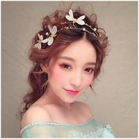 hermoso bordado blanco al por mayor-Tan hermoso blanco sombreros para la boda bordado de encaje de flores accesorios nupciales Fascinator sombrero pieza principal boda tiaras con encanto barato