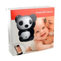 Wholesale wide lens ip camera for sale - Group buy HD X P Wireless Video Baby Monitor Night Vision Cute Panda Cloud Network IP Camera with Two way Intercom Wide Angle Lens