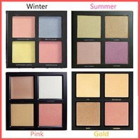 Wholesale Winter Water Factory - Factory Direct DHL Free Newest 4color Bronzer&Highlighters Pressed Powder Palette Summer Winter Solstice Edition  golden sands pink sands