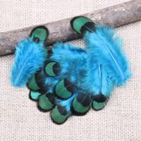 dekorative schwarze federn großhandel-50 stücke pro packung Schöne Fasan Feather kostüme tanzparty hochzeit hut Dekorative materialien 2 - 3 zoll