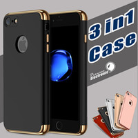 Wholesale Stylish Apple Cases - 3 in 1 Stylish Ultra-thin Slim Hard Back Cover Case for Apple iPhone 7 6 6S Plus Samsung S8 S7 edge PLUS