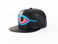 PU Leather Oxeye Brodé Cute Cartoon Brodé Fashiong Hat Baseball Cap Sports Flat Brimmed Hat