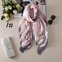 Wholesale Shawl White Satin Flowers - Luxury Fashion Womens Scarves Smooth and Soft Satin Scarf Plain Color Shawl with Big Flowers for Women dy-J79