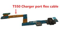 Wholesale Tab Usb Port - Micro USB Dock Charging Charger Port Connector Flex Ribbon Cable for Samsung Galaxy Tab A 9.7 T550 T555 Replacement Part 20pcs Lot