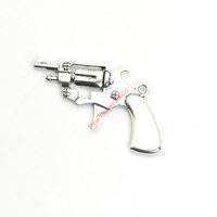 encantos arma venda por atacado-15 pcs de Prata Antigo Banhado A Arma Encantos Pingentes para Pulseira Fazer Jóias DIY Colar Artesanato 40x26mm