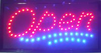 Open Sign High Visible Bright Stylish 2 cores Led Moving Flashing Animated Neon Sign Motion Light Off Switch Button Chain 19x10 for Busines