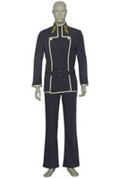 Wholesale custom code geass cosplay online - Unisex Role playing Japanese Anime Code Geass Lelouch Lamperouge Cosplay Costume Halloween Party Outfits Full Set Customize