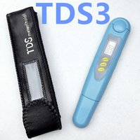 Wholesale Digital Tds3 - 10pcs lot High Quality TDS Meter Filter Measuring Pen New LCD Digital TDS3 Temp PPM Tester Stick Water Quality Purity
