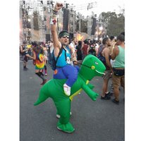 Wholesale inflatable carnival - Funny Polyester Adult Dinosaur Inflatable Costume Air Blown Up Fat Suit