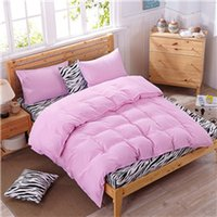 Wholesale Zebra Print Bedding King - BZ602 Solid color Zebra spell Bedding Set Hot Sales Duvet Cover Flat Sheet Pillowcase Comforter Bed Set Twin Full Queen King