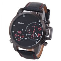 Wholesale Oulm Watches For Men - Oulm watch with quartz movement wristwatches stee band christmas gifts watch with fuctional dial for the business man for the gifts