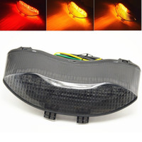 Wholesale Triumph Brakes - Motorcycle Integrated LED Brake Tail Light Turn Signals for 675 2005-2010 2006 2007 2008 2009 turn lights Free Shipping