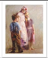 Wholesale Love Hand Painting - Framed The Spirit of Love by Pino Daeni,Hand painted World Famous Impressionist Art Oil Painting Quality Canvas,Mulit sizes available nati07
