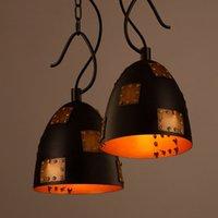 Wholesale E27 Pot Lights - Creative Iron vintage industrial loft style pot pendant lamp restaurant bar cafe personality patch pendant light