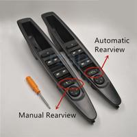 elektrischer fensterschalter großhandel-Auto Vorne Links Master Elektrische Fensterheber Schaltknopf mit Rückspiegel Schalter Für Citroen C4