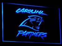 Wholesale Neon Football Signs - b066 Panthers Beer Football Decor Bar LED Neon Light Sign 7 colors sent in 24 hrs