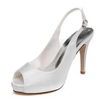 Wholesale Evening Sandal Stiletto - 10cm Heel Platfrom Elegance Plain Style Wedding Shoes Evening Shoes High Heel Bridal Shoes Party Prom Women Shoes bridal shoes Party Shoes