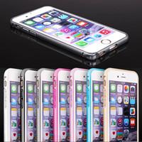 Wholesale Iphone Bumper Frame Aluminium - Slim Hippocampal Buckle Metal Aluminium Frame Bumper Shockproof Case For iPhone SE 5 5S 6 6S Plus Note 4 S6 edge Sony Z1 Z2 Z3 Z4 Z5 10pcs