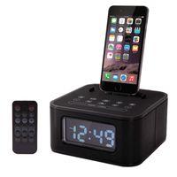 Wholesale Clock Radio Iphone Dock - Brand new S1 Pro dock Alarm Clock Radio Speaker system Multifunction bluetooth subwoofer speaker dock charging station FM Aux-in for iphone