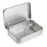 Wholesale Storage Tin Lid - Wholesale Survival Kit Tin Higen Lid Small Empty Silver Flip Metal Storage Box Case Organizer For Money Coin Candy Keys H210571