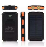 Barato Carregadores De Celulares Solares Ao Atacado-.Wholesale Hot universal 6000mAh Port Solar Power Bank usb Carregador bateria de backup externo para iPhone6 ​​iPad carregadores de celulares Samsung