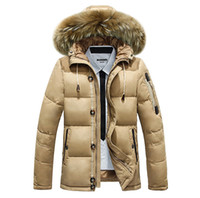Wholesale Male Black Hair Styles - 2018 winter hot style thickening male big yards hooded men down heavy hair coat winter coat