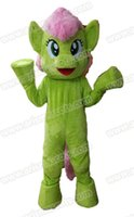 Wholesale Theme Park Mascot Costumes - 100% Real Photos Lovely Green Little Pony mascot costume Mascotte Mascota for Kids Party Theme Park Entertainment Fur mascot