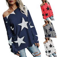 Wholesale Designer Clothes For Women - Street style t shirts for women stars printing plus size women clothing fashion designer cotton t shirt woman brand long sleeve tshirt