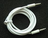 соединительные шнуры оптовых-50 шт. 3.5 мм мужской 4 полюс записи автомобиля aux аудио шнур наушников подключите кабель AUX аудио кабель автомобиля аудио кабель phone4 для ipad записи