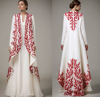 Wholesale Muslim Clothing Sleeves - 2017 Ashi Arabic Kaftan wedding dresses beading embroidery dubai arabic kaftan abayas Islamic clothing Vestido de Festa Longo