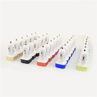 Wholesale Cheap Portable Charger For Iphone - Cheap Car Charger for iPhone 6 Samsung note 7 Portable Mini Bullet Shape 2A Metal Dual USB Chargers