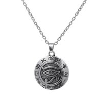 Wholesale antique egyptian jewelry - My Shape Religious jewelry Series Of Antique Silver Plated Religious Eye Of Horus Pendant Egyptian Necklace
