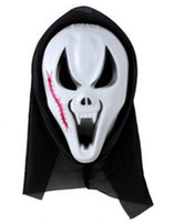 Wholesale scary man halloween costume for sale - Hot Scary Ghost Face Scream Mask Creepy for Halloween Masquerade Party Fancy Dress Costume
