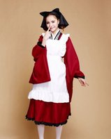 Wholesale Maid Uniform Cute - A Full Set of Cosplay Cute Maid Dress Uniform Lolita Daily Wear Cosplay Suits for Christmas and Performance