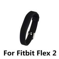 Wholesale Female Silicone Bracelets - Large small Size Silicone Replacement Rubber Band Wireless Activity Bracelet Wristband For Fitbit Flex 2 Wholesale