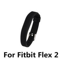banda de goma más pequeña al por mayor-Pulsera de pulsera de actividad inalámbrica de gran tamaño de silicona de gran tamaño para Fitbit Flex 2 al por mayor