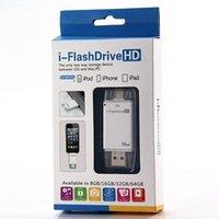 ipad clignotant achat en gros de-8G / 16G / 32G / 64G téléphone portable carte mémoire étendue USB i-FlashDrive lecteur flash lecteur de carte mémoire pour iPhone7 / 6 iPad iOS