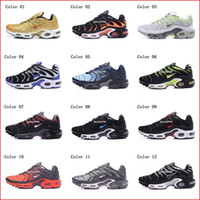 Wholesale Air Shoe Brand - Cheap Hight Quality Brand New Air Sports TN Running Shoes For Men Black White Mens Athletic jogging Tennis Shoes Grey Man Training Sneakers