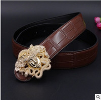 Wholesale Fashionable Belts - The most popular brand men's leather belt leather belt of fashionable young men and women belts