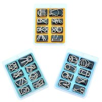 Wholesale Brain Gift - Metal Puzzles Brain Teaser IQ Test Disentanglement Puzzles Game Challenge Intelligence Toys Magic Trick Toy Gifts Toys