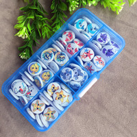 Wholesale Dot Craft Buttons - free shipping mixed 100 pcs 10 ocean styles 15mm 2-hole Dots and Stripes Printed Wooden button Sewing Scrapbooking Crafts accessory