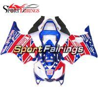 honda bayrakları toptan satış-Honda CBR600 Için tam Motosiklet Plastik ABS Enjeksiyon Fairing Kitleri F4i 2001 2002 2003 Yıl 01 02 03 Marangozluk ABD Bayrağı Castrol Cowling