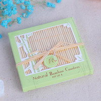 Wholesale Traditional Wedding Favors - Natural Bamboo Coasters Cup Mat Table Placemat Wedding Favors And Gift Party Souvenir Giveaway For Guest ZA4379