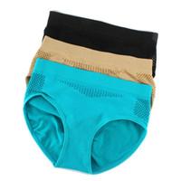 Wholesale Cotton Boxer Shorts Seamless - Wholesale-Lady Seamless Safety Hollow Underwear Cotton Shorts Boxer Pants Sports Pant Hot